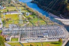 Tagokura Dam Lake at Fukushima in Japan Royalty Free Stock Photography