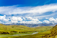 Tagong grassland and Mount Yala in Sichuan province - China royalty free stock image