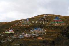 Tagong tempel, en berömd tempel Sakya för tibetan buddism Arkivfoton