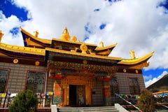 Tagong tempel, en berömd tempel Sakya för tibetan buddism Fotografering för Bildbyråer