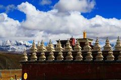 Tagong tempel, en berömd tempel Sakya för tibetan buddism Arkivbild