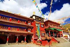 Tagong temple, a famous Sakya Tibetan Buddhism temple Royalty Free Stock Image