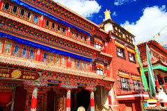 Tagong temple, a famous Sakya Tibetan Buddhism temple Stock Photo