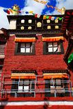 Tagong temple, a famous Sakya Tibetan Buddhism temple Royalty Free Stock Images