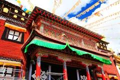 Tagong temple, a famous Sakya Tibetan Buddhism temple Stock Image