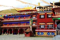 Tagong temple, a famous Sakya Tibetan Buddhism temple Stock Photos