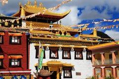 Tagong temple, a famous Sakya Tibetan Buddhism temple Royalty Free Stock Photo