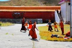 Tagong temple, a famous Sakya Tibetan Buddhism temple Stock Images