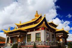 Tagong temple, a famous Sakya Tibetan Buddhism temple Royalty Free Stock Photography