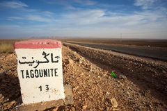 Tagounite 13 Kilometer Lizenzfreie Stockfotos