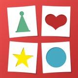 Tagpapierkartenaufkleber Stockfoto