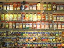 Étagère de sucrerie Photos stock