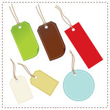 Tags. In different features colorful designs Royalty Free Stock Photo