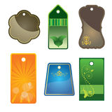 Tags. Illustration of set of different tags Royalty Free Stock Image
