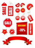 Tags. Sale tags collection on white Stock Photos