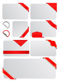 Tags. Vector blank tags with banners Royalty Free Stock Photos