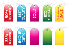Tags. Illustration of tags on white background Royalty Free Stock Image