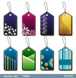 Tags. Set of bright color tags Royalty Free Stock Image