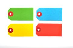 Tags. Colorful tags on white background Royalty Free Stock Photography