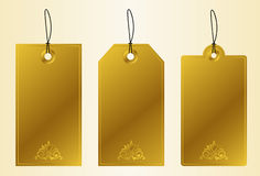 Tags. Set of golden luxury labels Royalty Free Stock Image