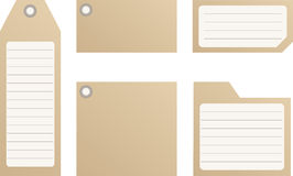 Tags. A variety of tags on a white background vector illustration