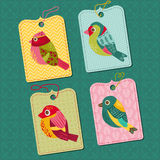 Tags with Birds Royalty Free Stock Photo