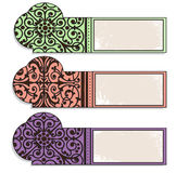 Tags,bookmarks with decoration Stock Photos