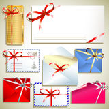 Tags with bow Royalty Free Stock Images