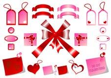 Tags bows and ribbons Royalty Free Stock Image