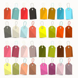 Tags. Colorful Retro Vector Paper Labels Set Stock Photo