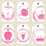 Tags with crowns Stock Images
