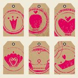 Tags with crowns Royalty Free Stock Photography