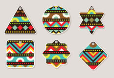 Tags Design With Geometric Pattern Set Royalty Free Stock Image