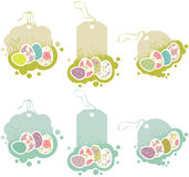 Tags with Easter eggs royalty free illustration