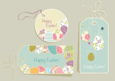 Tags on Easter theme Royalty Free Stock Images