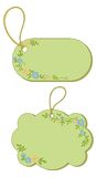 Tags with floral pattern Stock Photos