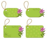 Tags with floral pattern Royalty Free Stock Photo