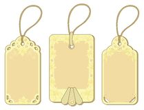 Tags with floral pattern Royalty Free Stock Photography