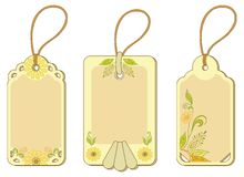 Tags with floral pattern Royalty Free Stock Images