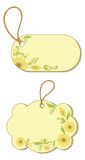 Tags with floral pattern Stock Image