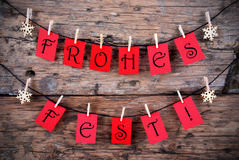 Tags with Frohes Fest Royalty Free Stock Images