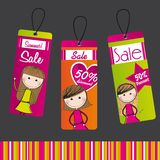 Tags with girls Royalty Free Stock Photos