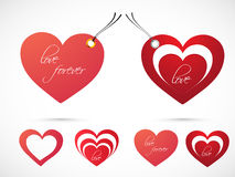 Tags for Happy Valentines Day celebration. Royalty Free Stock Photo
