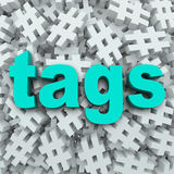 Tags Hashtag Symbol Message Update Background Stock Photos