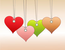 Tags in heart shape Royalty Free Stock Images