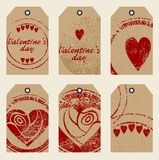 Tags with hearts Royalty Free Stock Photography