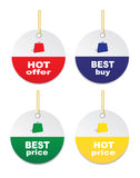 Tags- hot offer, best best price,hot price, best buy. Stock Image