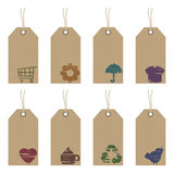 Tags with icons Stock Photo