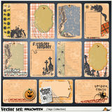 Tags, label and sticker on a theme of Halloween Stock Images