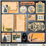 Tags, label and sticker on a theme of Halloween Royalty Free Stock Images